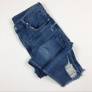 GAP | True Skinny High Rise Distressed Jeans